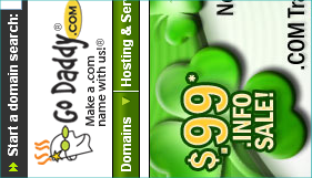 Godaddy 99 cent domain sale