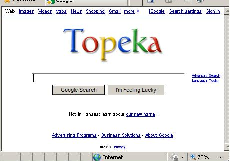 Google Was Topeka For A Day